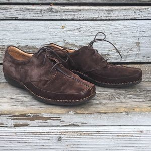 ROCKPORT brown suede lace up shoes
